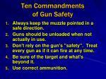 ten commandments of gun safety