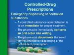 controlled drug prescriptions73