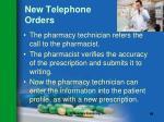new telephone orders