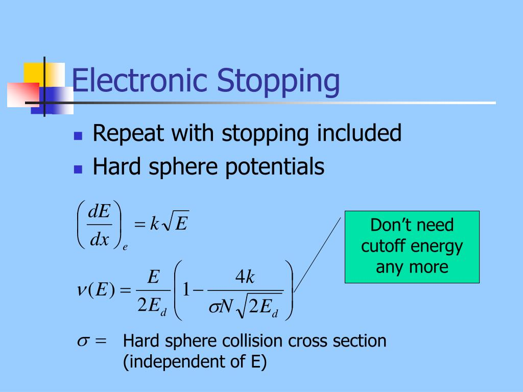 Electronic Stopping