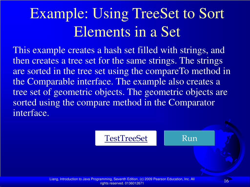 Example: Using TreeSet to Sort Elements in a Set