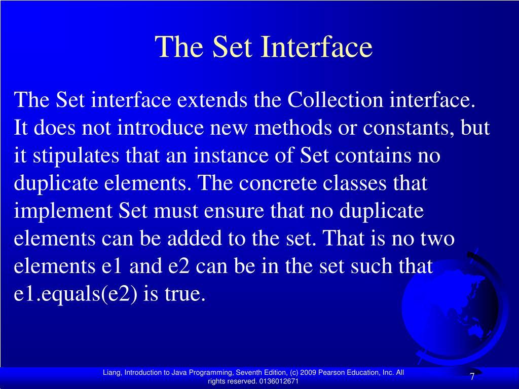 The Set Interface