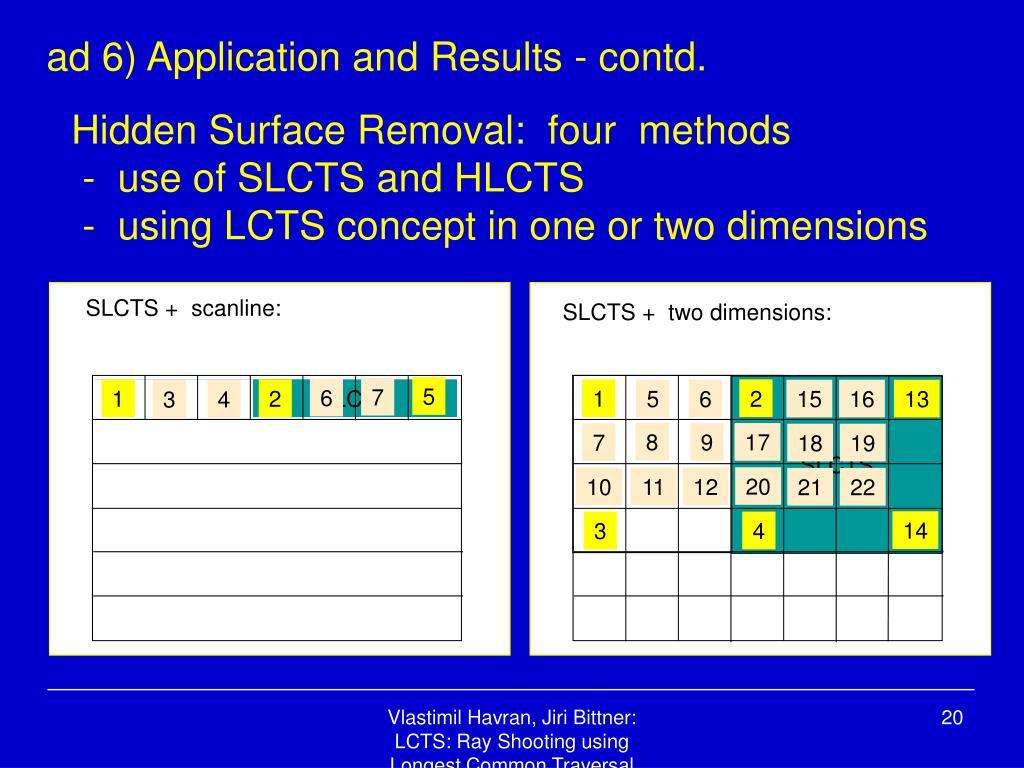 SLCTS +  scanline: