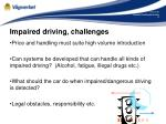 impaired driving challenges