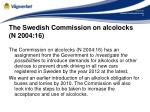 the swedish commission on alcolocks n 2004 16