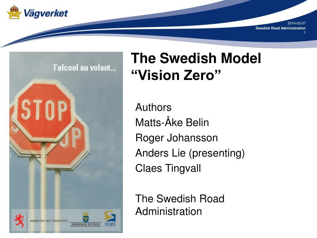 the swedish model vision zero l.