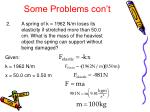 some problems con t