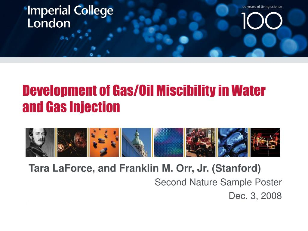 development of gas oil miscibility in water and gas injection