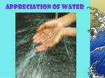appreciation of water
