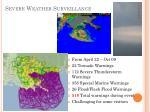 severe weather surveillance