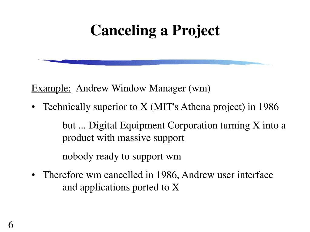 Canceling a Project