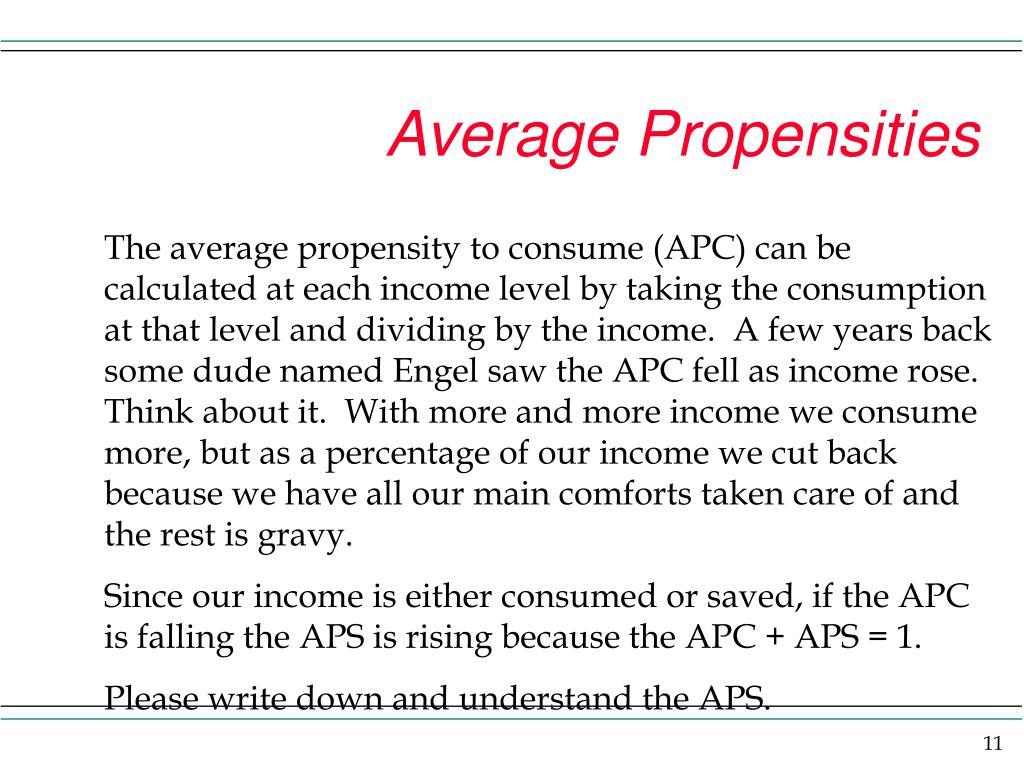 Average Propensities