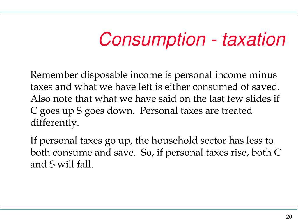 Consumption - taxation