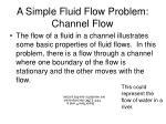 a simple fluid flow problem channel flow