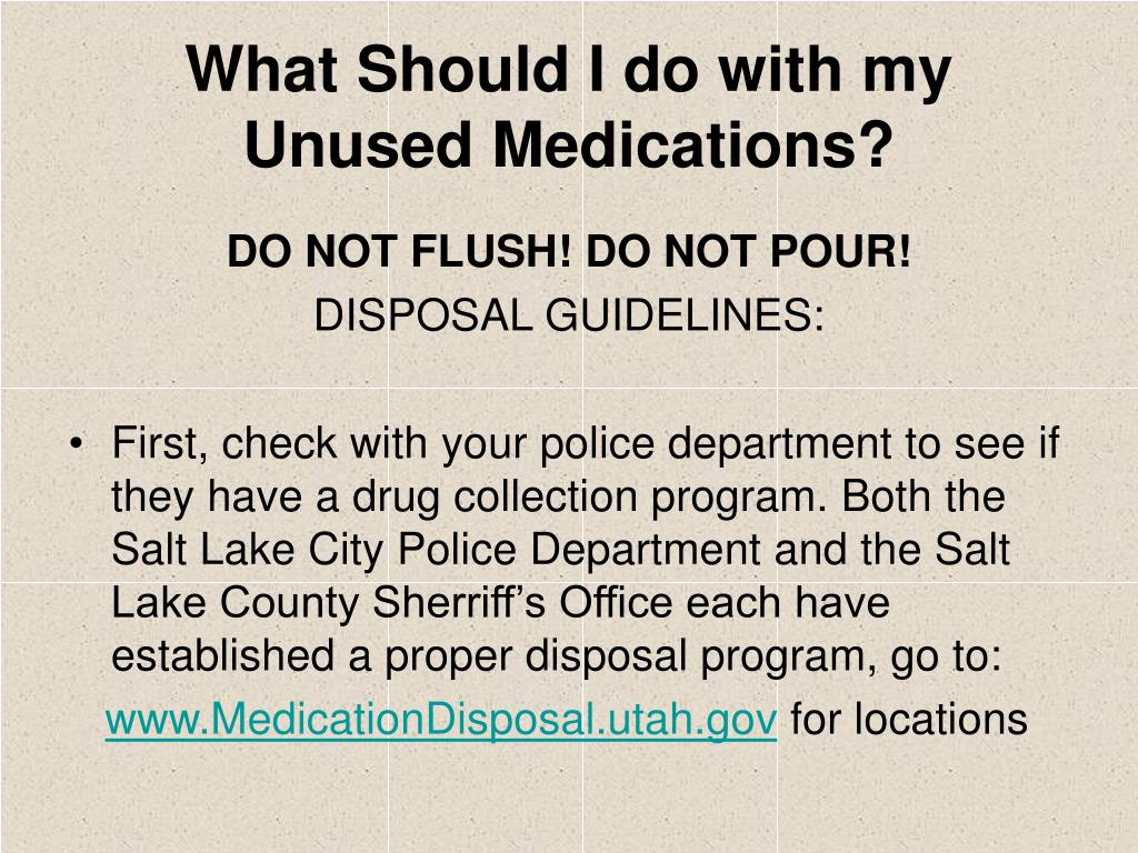 What Should I do with my Unused Medications?