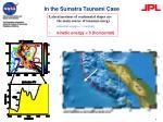 in the sumatra tsunami case