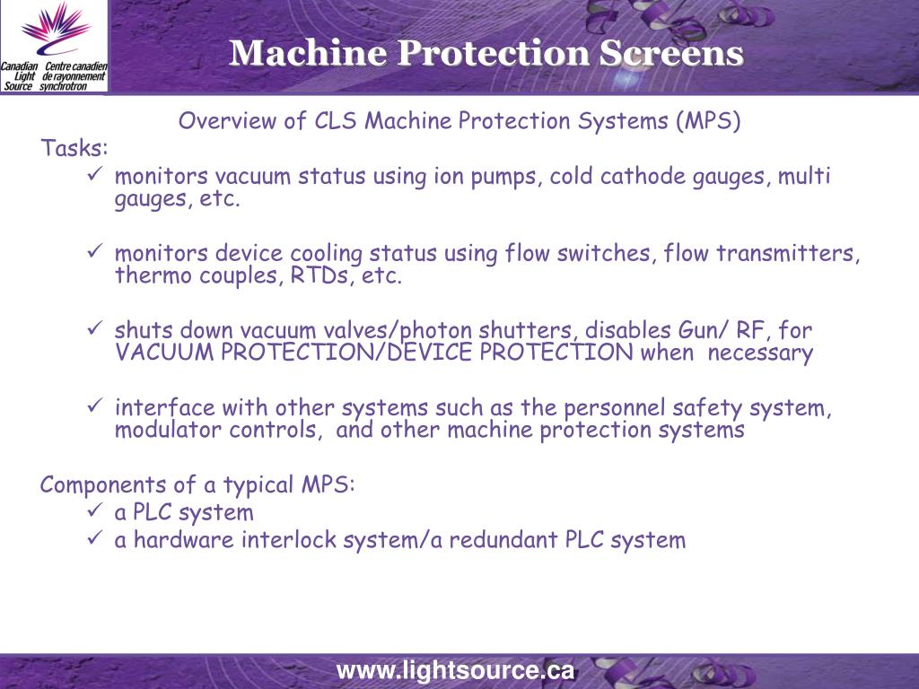 Machine Protection Screens