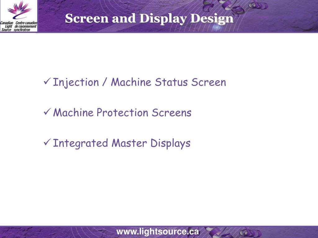 Screen and Display Design