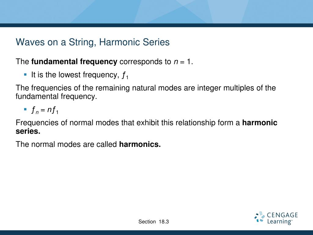 Waves on a String, Harmonic Series