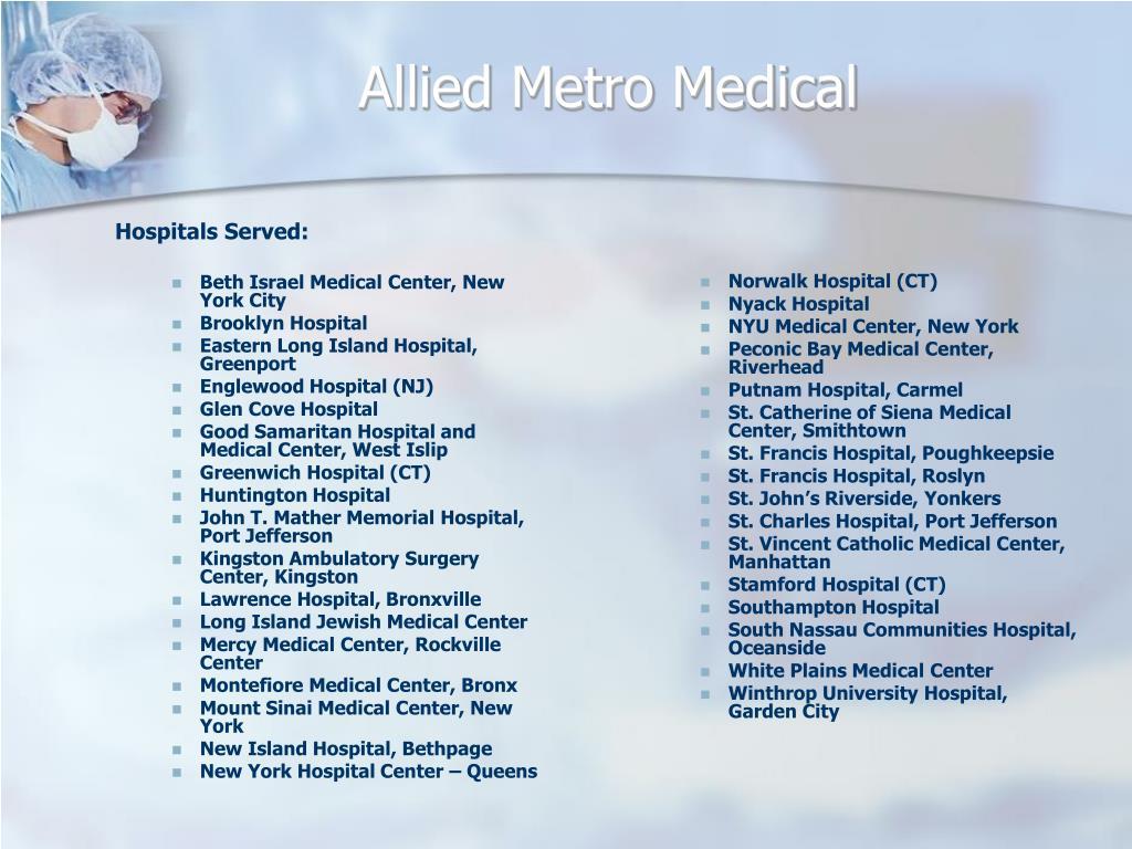 Hospitals Served: