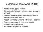 feldman s framework 2004