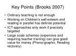 key points brooks 2007