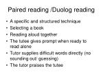paired reading duolog reading