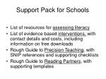 support pack for schools