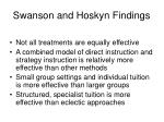 swanson and hoskyn findings