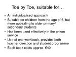 toe by toe suitable for