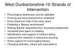 west dunbartonshire 10 strands of intervention