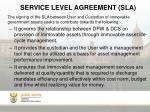 service level agreement sla