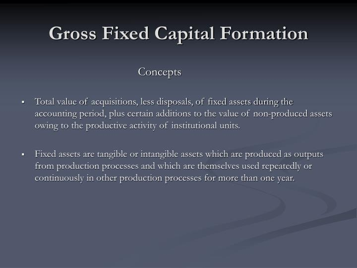 gross fixed capital formation n.