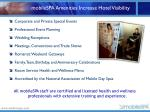 mobilespa amenities increase hotel visibility