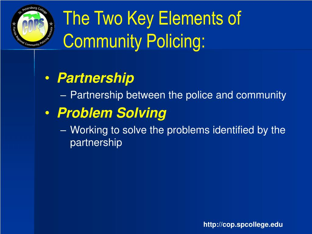 problem oriented policing essays This should be original design of a problem oriented policing (pop) program field test the quality of my essay was worth the money i had paid.