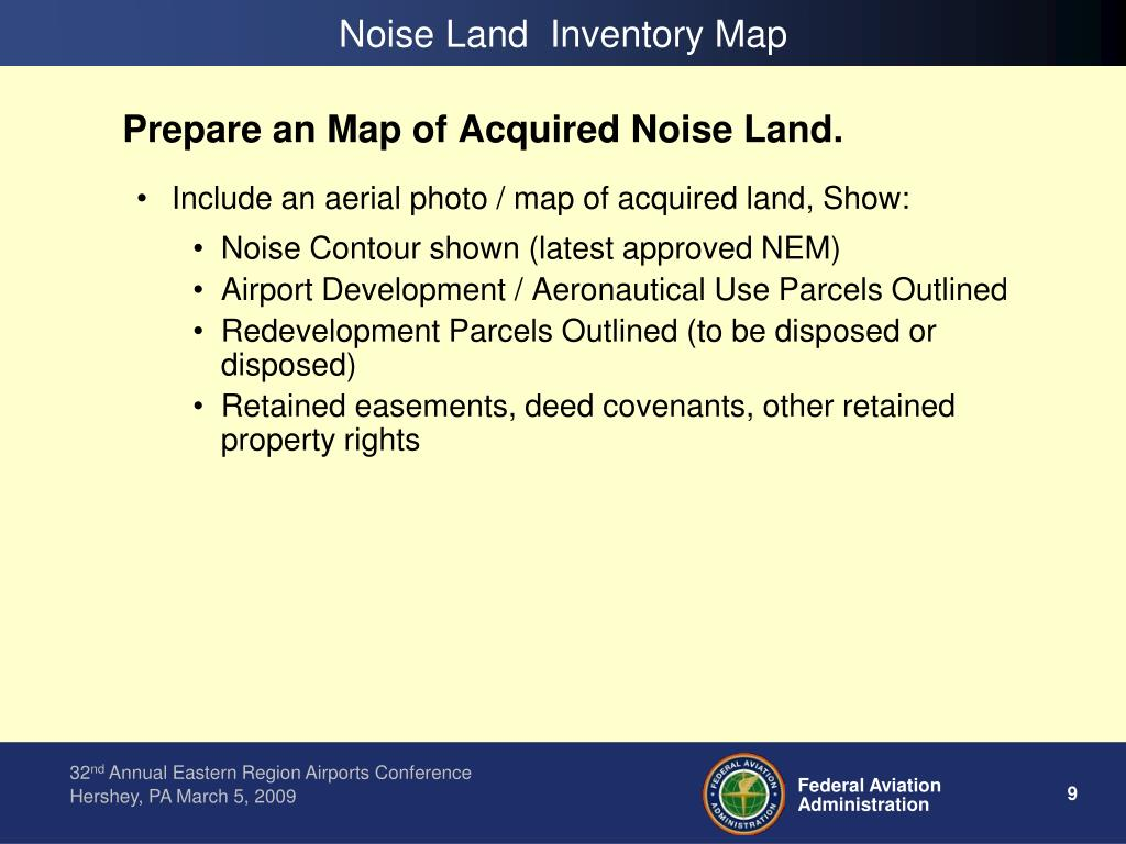 Noise Land  Inventory Map