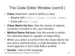 the code editor window cont d40