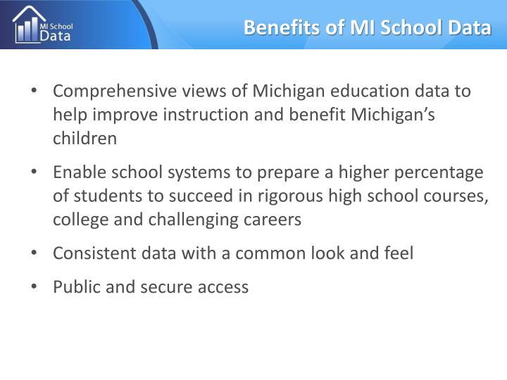 Benefits of mi school data
