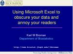 using microsoft excel to obscure your data and annoy your readers
