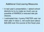 additional cost saving measures