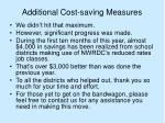 additional cost saving measures32