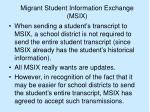 migrant student information exchange msix19