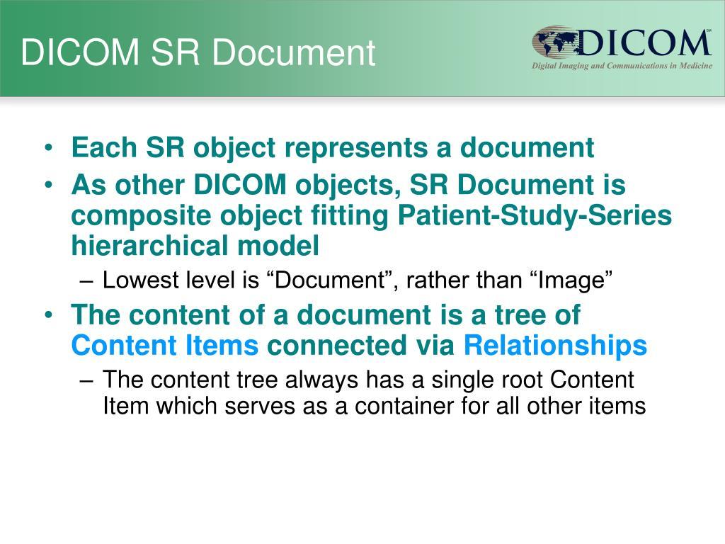 DICOM SR Document