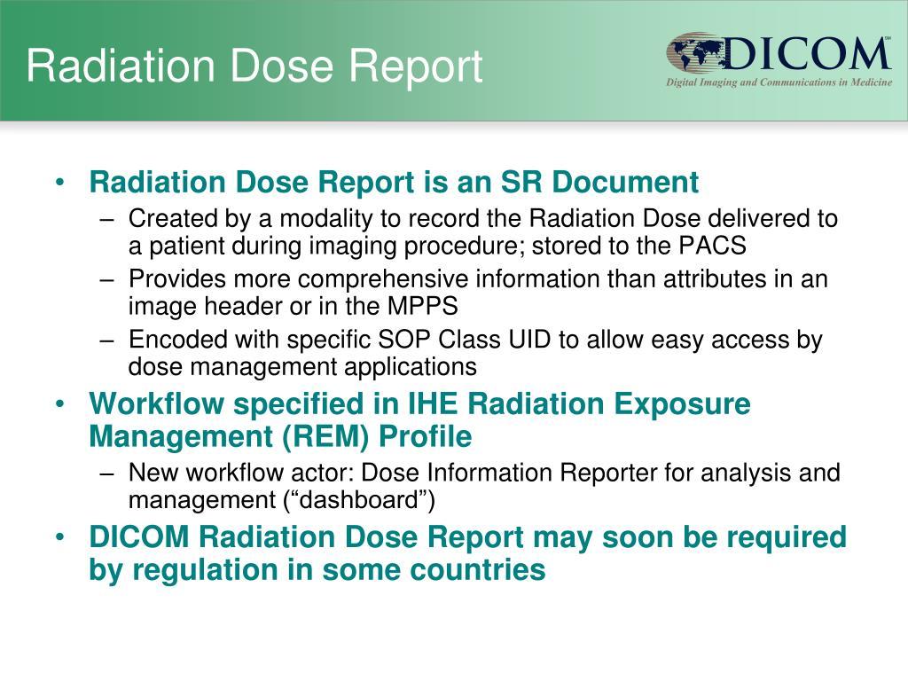 Radiation Dose Report