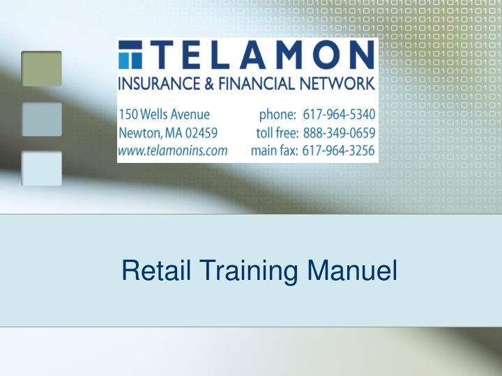 Retail training manuel