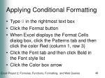 applying conditional formatting48