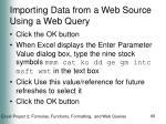 importing data from a web source using a web query66