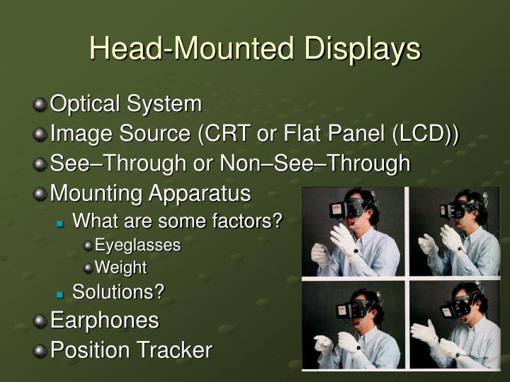 Head mounted displays