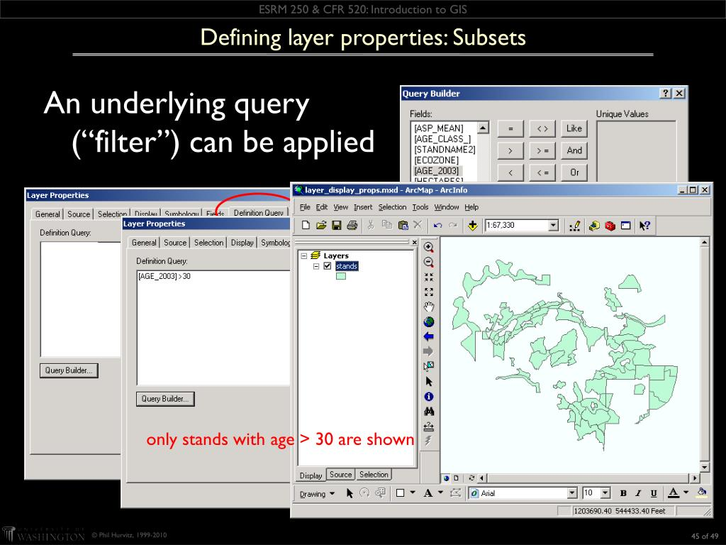 Defining layer properties: Subsets