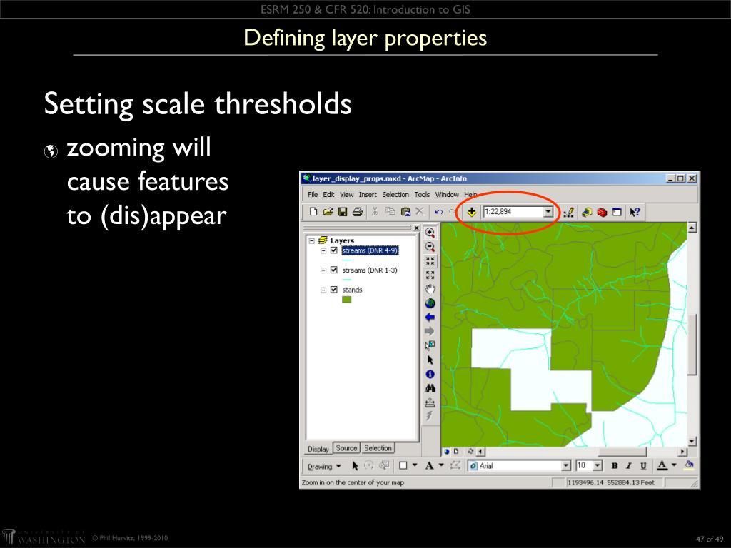 Defining layer properties